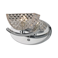 ELK Lighting Contour 1 Light Bath Bar in Polished Chrome 46156/1