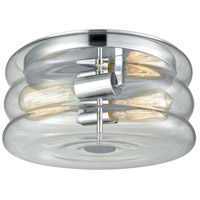 Ronis 2 Light 12 inch Polished Chrome Flush Mount Ceiling Light