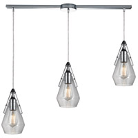 Duncan 36 inch Polished Chrome Pendant Ceiling Light