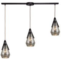 ELK 46172/3L Duncan 3 Light 5 inch Oil Rubbed Bronze Mini Pendant Ceiling Light in Linear with Recessed Adapter, Linear