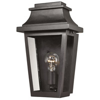 ELK Lighting Covina 1 Light Outdoor Sconce in Matte Black with Clear Glass 46190/1