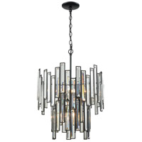 Lineo 6 Light 18 inch Matte Black Chandelier Ceiling Light