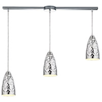 ELK 46210/3L Hammersmith 3 Light 36 inch Polished Chrome Linear Pendant Ceiling Light in Linear with Recessed Adapter