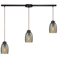 ELK 46216/3L Muncie 3 Light 36 inch Oil Rubbed Bronze Mini Pendant Ceiling Light in Linear with Recessed Adapter, Linear