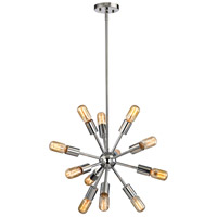 Delphine 12 Light 16 inch Polished Chrome Chandelier Ceiling Light