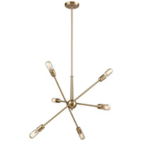 ELK 46240/6 Delphine 6 Light 28 inch Satin Brass Chandelier Ceiling Light