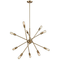 Delphine 10 Light 33 inch Satin Brass Chandelier Ceiling Light