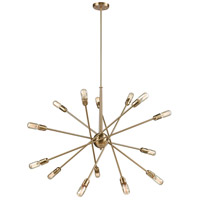 Delphine 14 Light 38 inch Satin Brass Chandelier Ceiling Light
