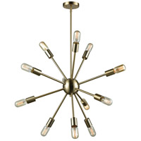 Delphine 12 Light 27 inch Satin Brass Chandelier Ceiling Light
