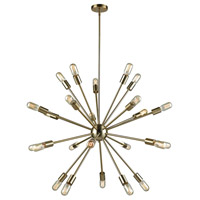Delphine 24 Light 36 inch Satin Brass Chandelier Ceiling Light