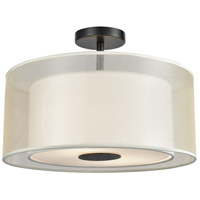 Ashland 2 Light 16 inch Matte Black Semi Flushmount Ceiling Light