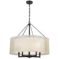 ELK 46268/5 Ashland 5 Light 26 inch Matte Black Pendant Ceiling Light