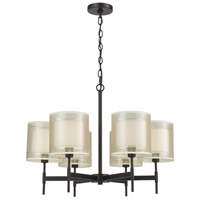 ELK 46269/6 Ashland 6 Light 26 inch Matte Black Chandelier Ceiling Light