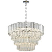 Carrington 7 Light 26 inch Polished Chrome Pendant Ceiling Light
