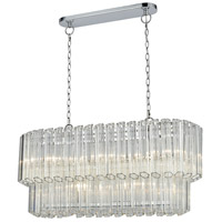Carrington 5 Light 38 inch Polished Chrome Billiard Island Ceiling Light