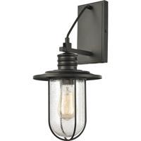 ELK 46401/1 Lakeshore Drive 8 inch Matte Black Sconce Wall Light