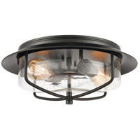 ELK 46402/2 Lakeshore Drive 15 inch Matte Black Flush Mount Ceiling Light
