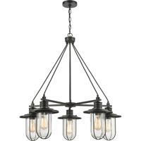 ELK 46404/5 Lakeshore Drive 33 inch Matte Black Chandelier Ceiling Light