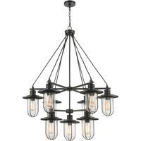 ELK 46406/9 Lakeshore Drive 36 inch Matte Black Chandelier Ceiling Light