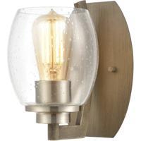 ELK 46420/1 Bixler 1 Light 5 inch Light Wood with Satin Nickel Sconce Wall Light
