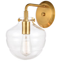 Manhattan Boutique 1 Light 8 inch Brushed Brass Wall Sconce Wall Light