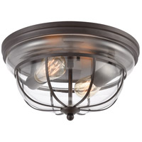 Manhattan Boutique 2 Light 13 inch Oil Rubbed Bronze Flush Mount Ceiling Light