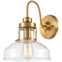 Manhattan Boutique 1 Light 9 inch Brushed Brass Wall Sconce Wall Light