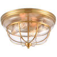 ELK 46574/2 Manhattan Boutique 2 Light 13 inch Brushed Brass Flush Mount Ceiling Light