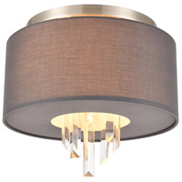 ELK 46591/2 Crystal Falls 2 Light 13 inch Satin Nickel Flush Mount Ceiling Light