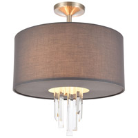 ELK 46592/3 Crystal Falls 3 Light 16 inch Satin Nickel Semi Flush Mount Ceiling Light