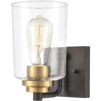 ELK 46610/1 Robins 1 Light 7 inch Matte Black with Brushed Brass Vanity Light Wall Light