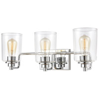 Robins 3 Light 23 inch Polished Chrome Vanity Light Wall Light