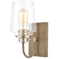 ELK 46640/1 Bakersfield 1 Light 7 inch Light Wood with Satin Nickel Vanity Light Wall Light