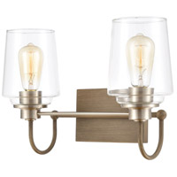 ELK 46641/2 Bakersfield 2 Light 16 inch Light Wood with Satin Nickel Vanity Light Wall Light