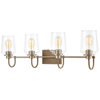 ELK 46643/4 Bakersfield 4 Light 35 inch Light Wood with Satin Nickel Vanity Light Wall Light