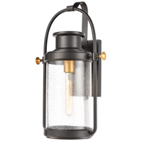 ELK 46671/1 Wexford 1 Light 19 inch Matte Black/Brushed Brass Outdoor Sconce