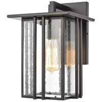 ELK 46691/1 Radnor 1 Light 12 inch Matte Black Outdoor Sconce