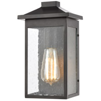 Lamplighter 1 Light 11 inch Matte Black Outdoor Wall Sconce