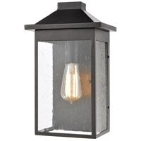 Lamplighter 1 Light 13 inch Matte Black Outdoor Wall Sconce