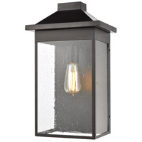 Lamplighter 1 Light 17 inch Matte Black Outdoor Wall Sconce