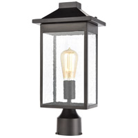 ELK 46704/1 Lamplighter 1 Light 16 inch Matte Black Outdoor Post Mount