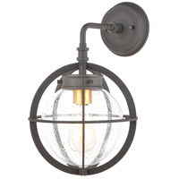 Davenport 1 Light 15 inch Charcoal with Brushed Brass Outdoor Wall Sconce