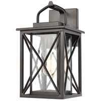 Carriage Light 1 Light 13 inch Matte Black Outdoor Wall Sconce