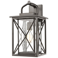 Carriage Light 1 Light 17 inch Matte Black Outdoor Wall Sconce