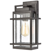 ELK 46760/1 Breckenridge 1 Light 14 inch Matte Black Outdoor Sconce
