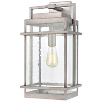 Weathered Zinc Glass Outdoor Wall Lights