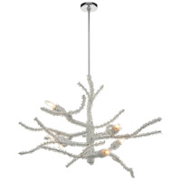 ELK 46782/8 Winter's Spray 39 inch Polished Chrome Chandelier Ceiling Light