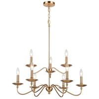ELK 46797/9 Wellsley 28 inch Burnished Brass Chandelier Ceiling Light
