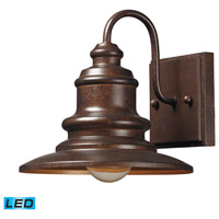 Marina LED 8 inch Hazelnut Bronze Outdoor Wall Sconce