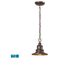 Marina LED 8 inch Hazelnut Bronze Outdoor Pendant